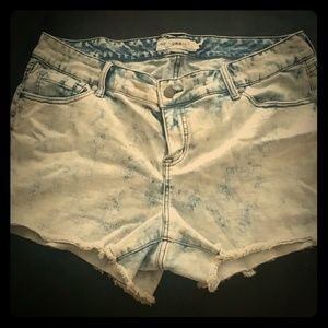 Torrid Acid Washed Denim Shorts